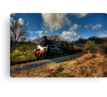 Approaching Grosmont Canvas Print