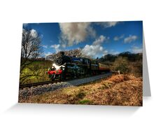 Approaching Grosmont Greeting Card