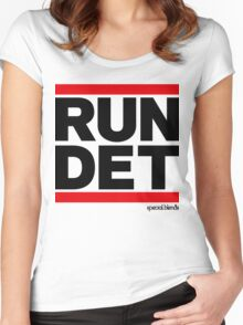 Run Detroit DET (v1) Women's Fitted Scoop T-Shirt