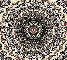 Bygone Love Mandala  by Vicki Field