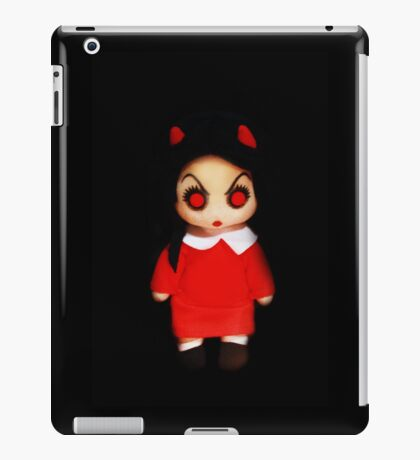 Sinderella Sweet Scary Devilish Gothic Doll in a Red Dress  iPad Case/Skin