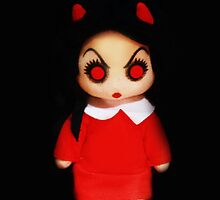 Sinderella Sweet Scary Devilish Gothic Doll in a Red Dress Case by ARTificiaLondon