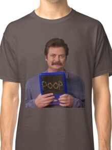 Ron Swanson - Poop Classic T-Shirt