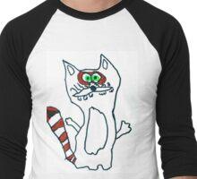 Mr Raccoon the Cool Cartoon Comic Friend Men's Baseball ¾ T-Shirt