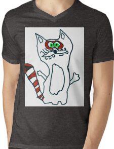 Mr Raccoon the Cool Cartoon Comic Friend Mens V-Neck T-Shirt