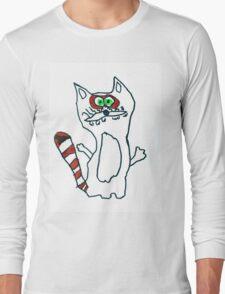 Mr Raccoon the Cool Cartoon Comic Friend Long Sleeve T-Shirt