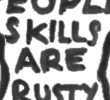 Castiel - People skills Sticker