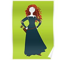 Princess Merida from Brave Disney Poster