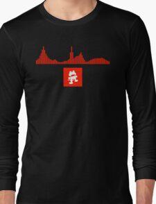 Monstercat Visualizer - DnB Red Long Sleeve T-Shirt