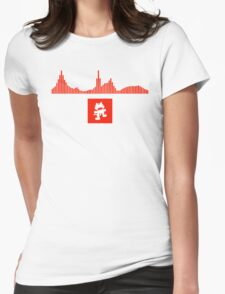 Monstercat Visualizer - DnB Red Womens Fitted T-Shirt