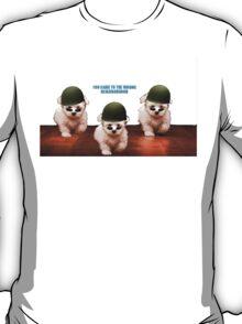 Cute Dog Army T-Shirt