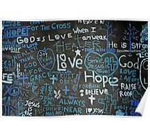 love, hope, peace. Poster