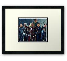 The Avengers/G.S. Warriors Mashup Framed Print