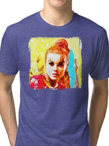 Psychedelic Red Head Tri-blend T-Shirt