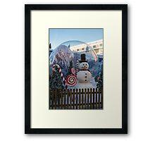 Big Snow Globe Framed Print