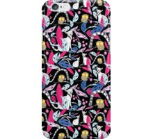 tropical pattern with lemurs iPhone Case/Skin