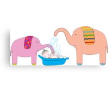 Baby Bath Time Canvas Print