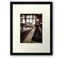 The Professor's Piano Framed Print