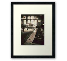 The Professor's Piano - Sepia Framed Print
