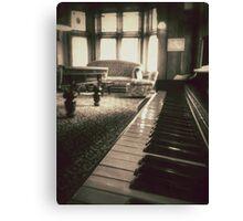 The Professor's Piano - Sepia Canvas Print