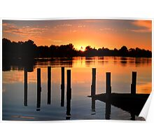 Swan River Boat Ramp sunrise Poster