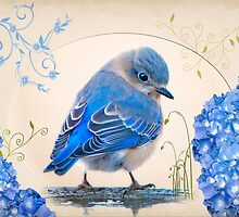 Bit of Bluebird Whimsy by Bonnie T.  Barry
