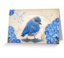 Bit of Bluebird Whimsy Greeting Card