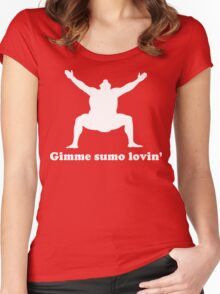 Gimme Sumo Lovin' t-shirt  Women's Fitted Scoop T-Shirt