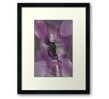 Argent Framed Print