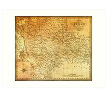 MAP of the REPUBLIC of TEXAS 1841 Art Print