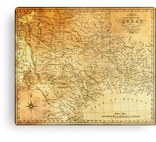 MAP of the REPUBLIC of TEXAS 1841 Metal Print