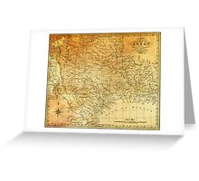 MAP of the REPUBLIC of TEXAS 1841 Greeting Card
