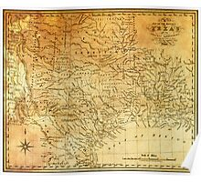 MAP of the REPUBLIC of TEXAS 1841 Poster