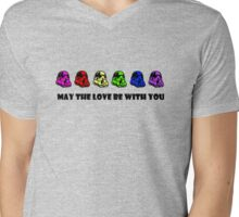 May the LOVE BE WITH YOU Mens V-Neck T-Shirt