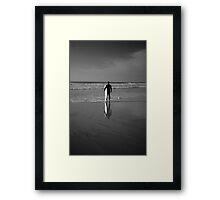 Surfer Reflection Framed Print