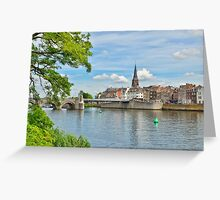 Maastricht view from river Maas Greeting Card