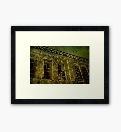 The woman in the window Framed Print