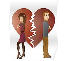 Couple with broken heart  Poster