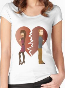 Couple with broken heart  Women's Fitted Scoop T-Shirt