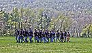 Marching Union Soldiers  by Susan S. Kline