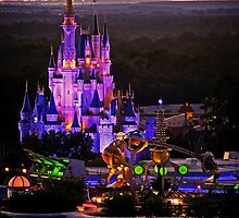 Cinderella Castle Sunset by Chris Lanam