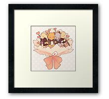 bearlock bouquet Framed Print