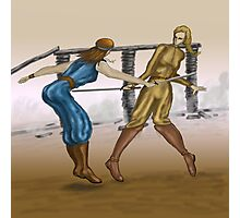 2 Sword Fighters  Photographic Print