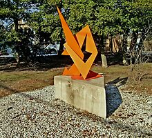 Modern Art Sculpture in park in Upper Montclair, NJ USA by Jane Neill-Hancock
