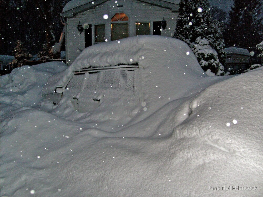 I Believe There Is A Vehicle Under That Snow Drift by Jane Neill-Hancock
