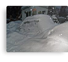 I Believe There Is A Vehicle Under That Snow Drift Metal Print