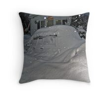 I Believe There Is A Vehicle Under That Snow Drift Throw Pillow