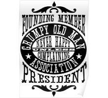 Grumpy Old Man Association Poster