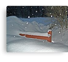 Snow All the Way To The Top Of the Fence Canvas Print