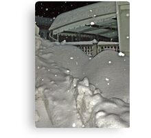 There Must Be A House Under That Snow ? Canvas Print